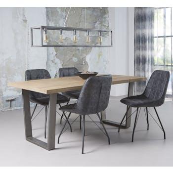 Table à manger contemporaine bois métal 180 LUCKNOW