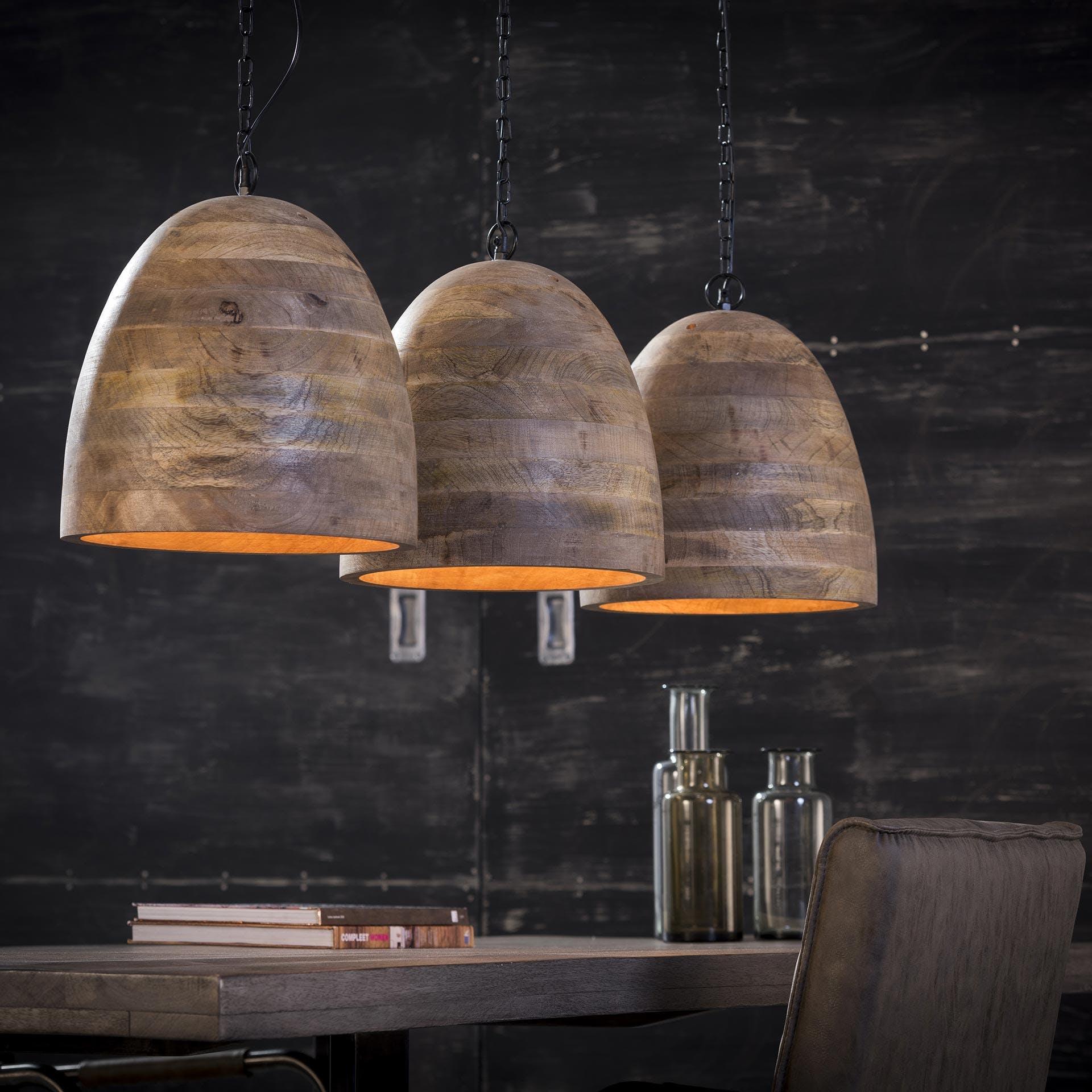 Suspension 3 lampes manguier Lucknow réf.30021998