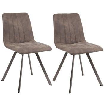 Lot de 2 chaises salle à manger JAVA réf.30022004