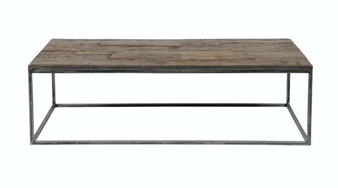Table basse bois brut recyclé métal OMSK