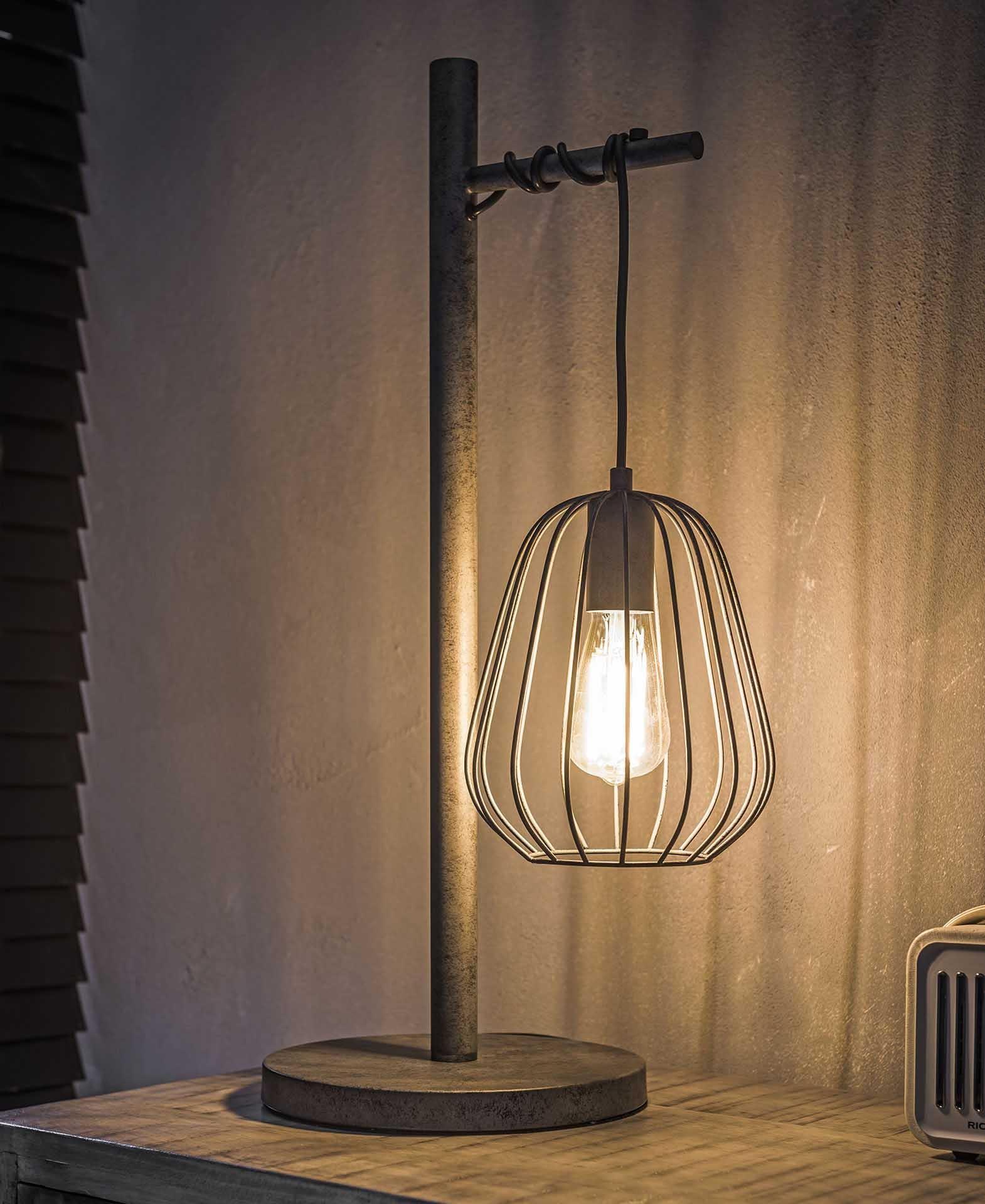 Lampe industrielle à poser métal vieilli H66 cm TRIBECA