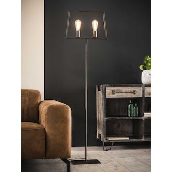 Lampadaire design salon 2 ampoules filament H155 cm RALF