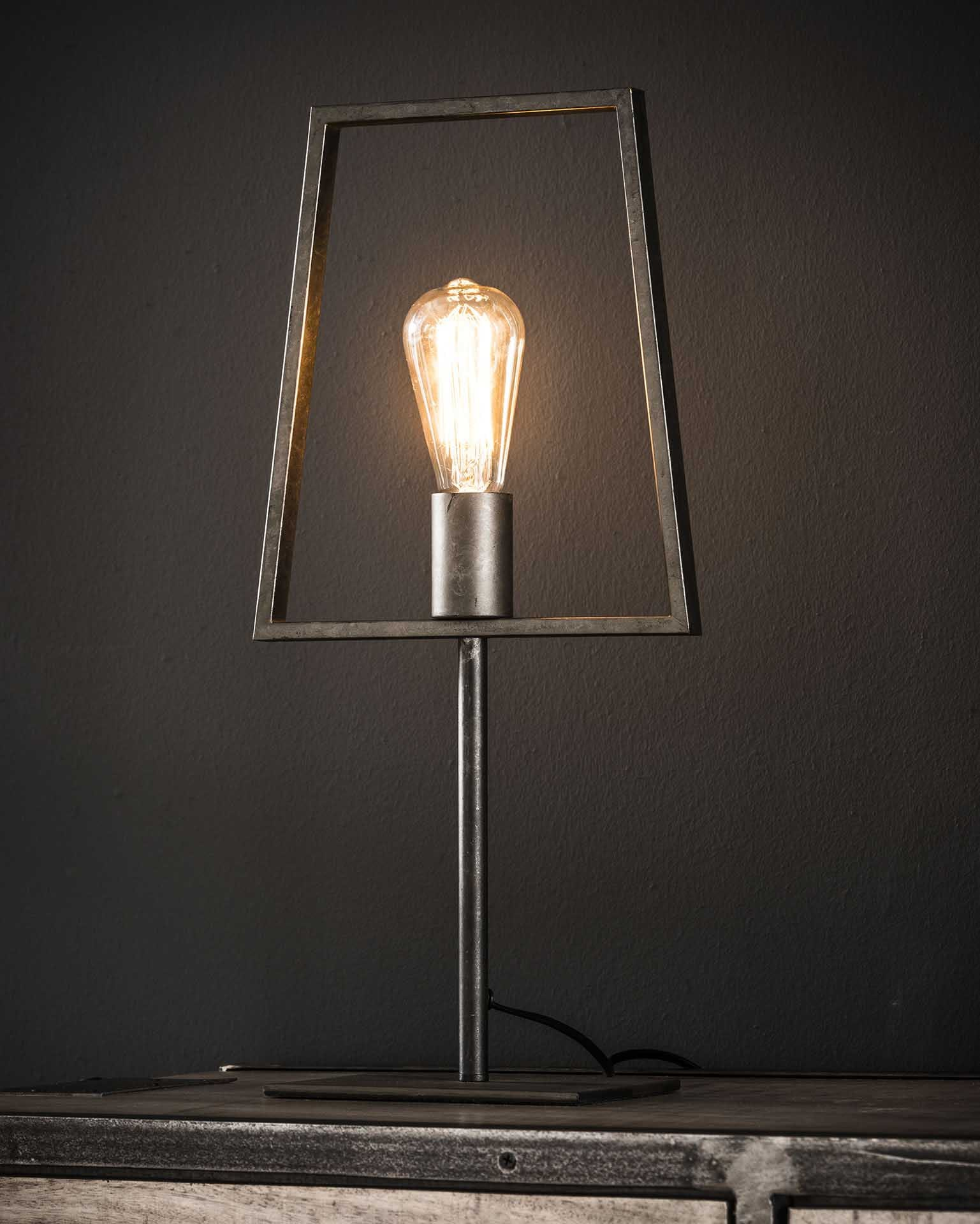 Lampe à poser design gris métal H52 cm RALF