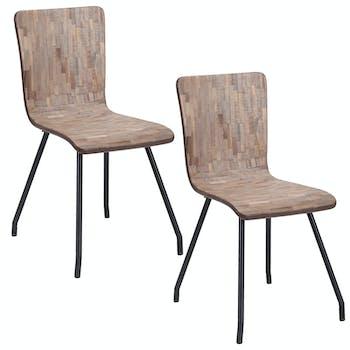 Lot de 2 chaises salle à manger JAVA réf. 30022971