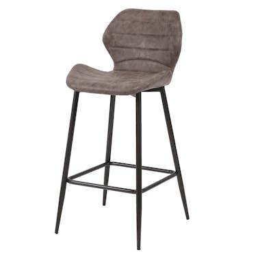 Chaise de bar marron foncé JAVA