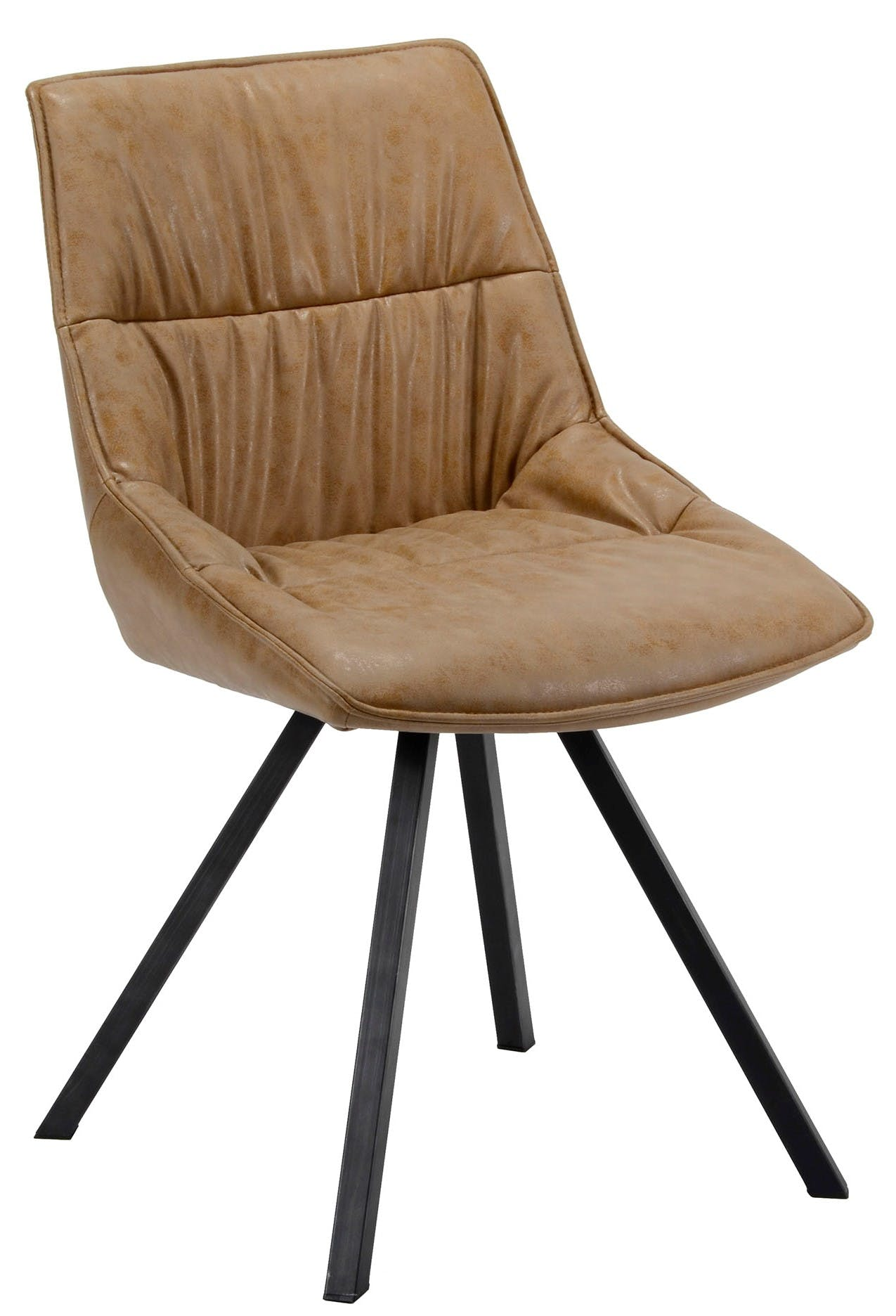 Chaise scandinave marron TRIBECA
