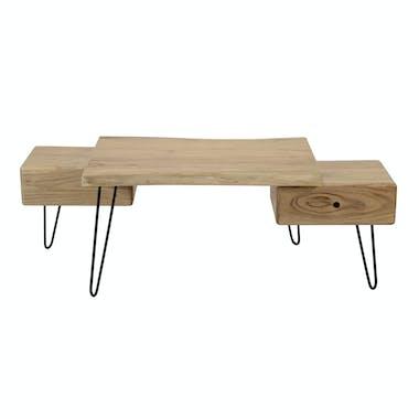 Table basse scandinave bois massif MELBOURNE