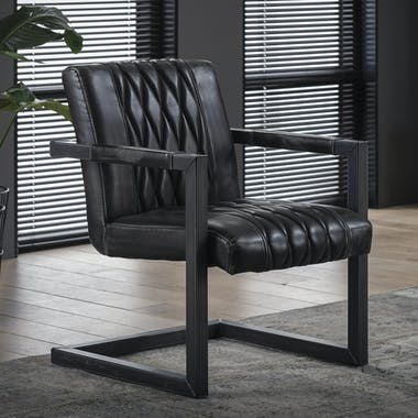 Fauteuil vintage anthracite JAVA