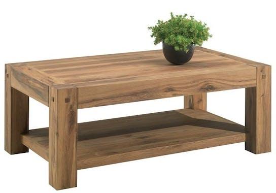Table basse rustique double plateau FJORD