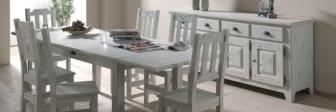 Chaise pin massif blanchi RIVAGE