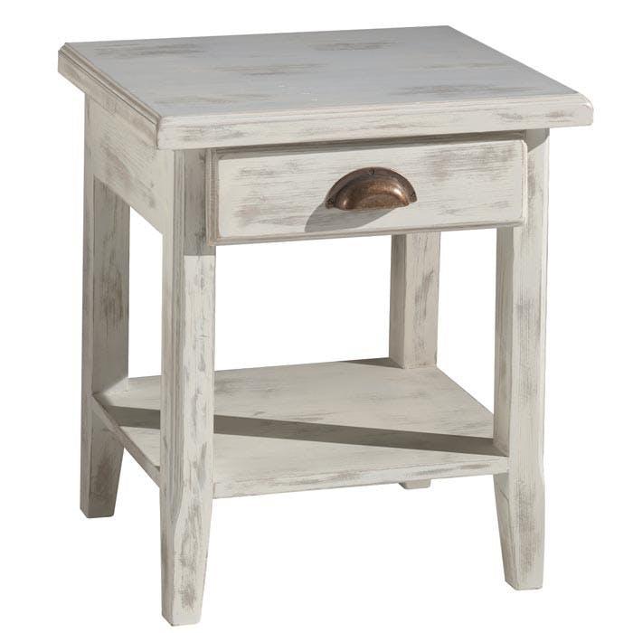 Table de chevet pin blanchi Rivage