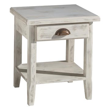 Table de chevet pin blanchi Rivage