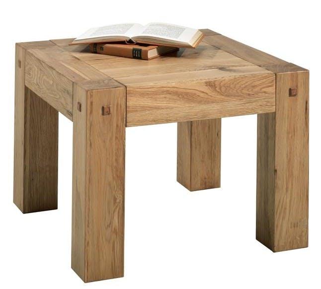 Petite table basse carrée bois FJORD