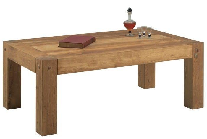 Table basse rectangulaire bois de chêne FJORD