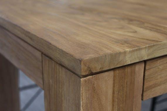 Table à manger bois de teck massif 180-280 RIO