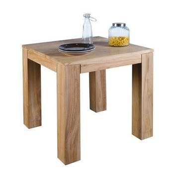 Table carrée en teck 80cm RIO