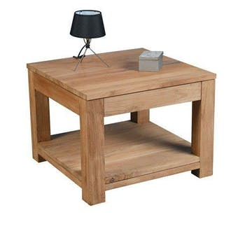 Table basse double plateau 60x60cm RIO