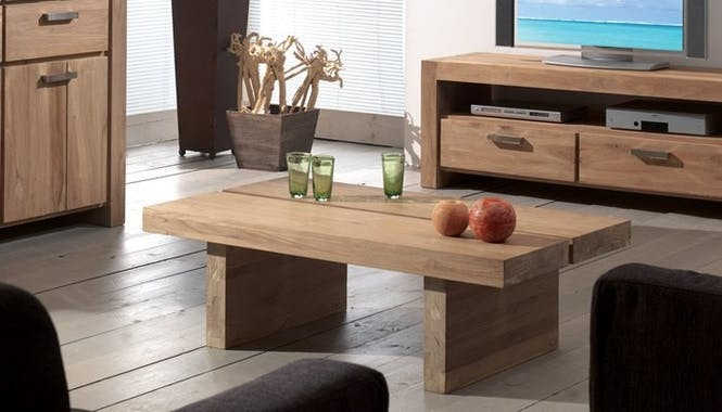 Table basse double plateau 60x60cm RIO