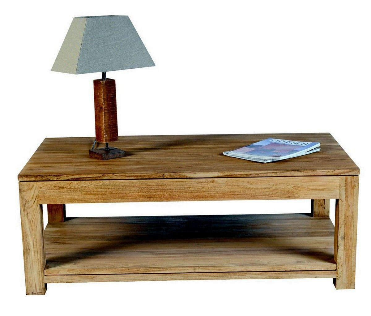 Table basse double plateau 120x70cm RIO