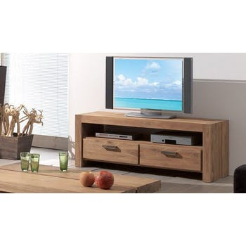 Meuble TV 2 tiroirs teck 150cm RIO