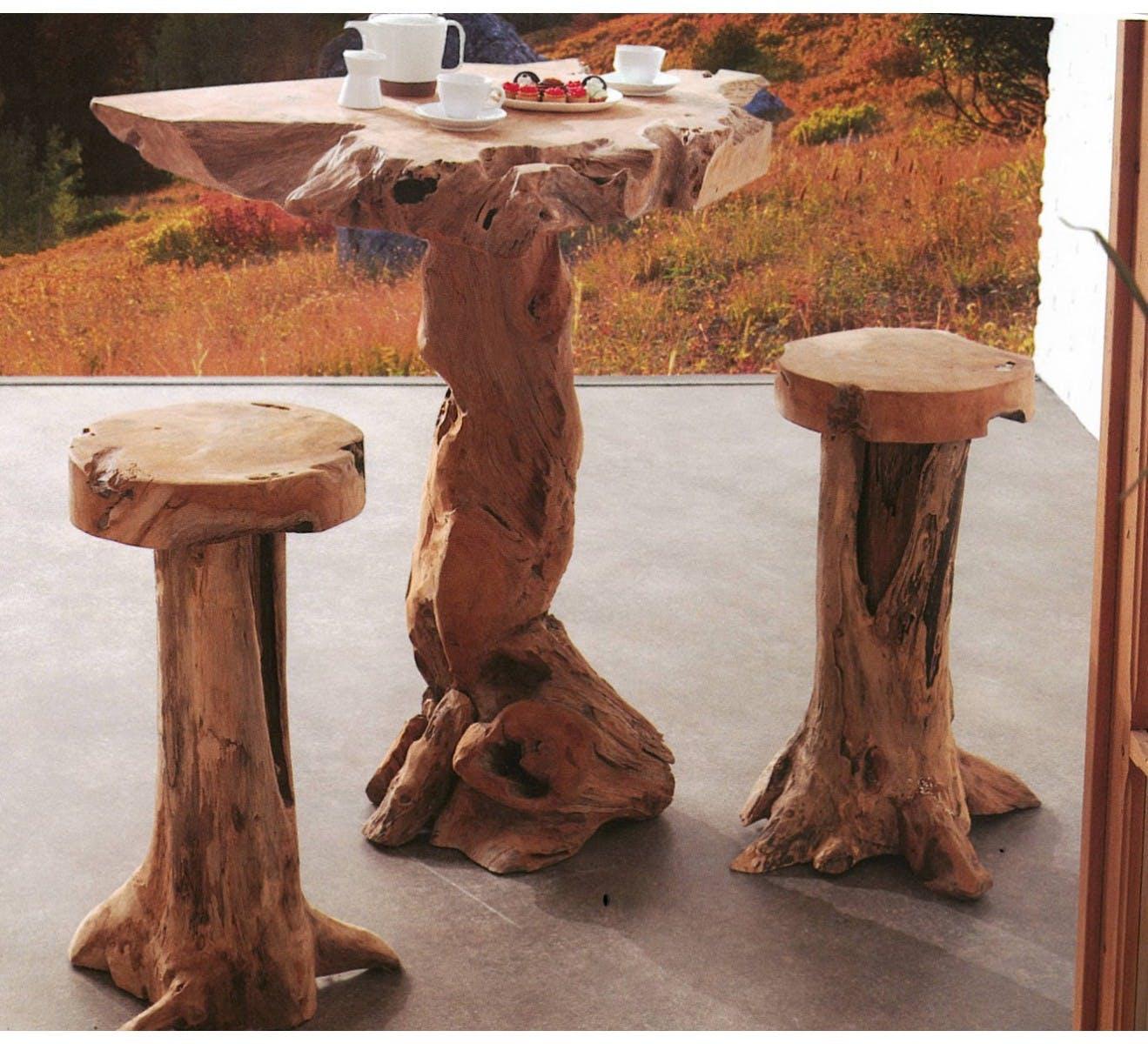 Table teck massif mange debout ARIZONA