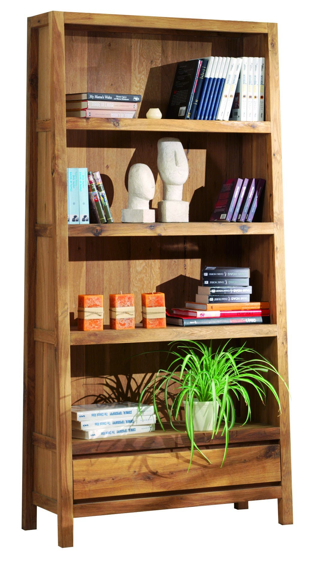 Bibliothèque étagère chêne 92x195cm FJORD