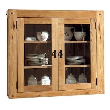 Vaisselier vitré bois massif pour buffet FJORD 120 FJORD
