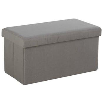 Banc coffre de rangement pliant Gris clair 76,5x40,5x40,5cm