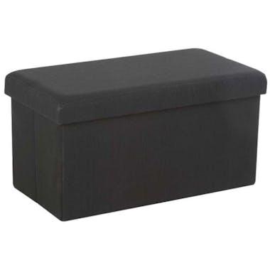 Banc coffre de rangement pliant Gris foncé 76,5x40,5x40,5cm