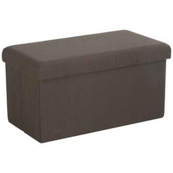 Banc coffre de rangement pliant Marron 76,5x40,5x40,5cm
