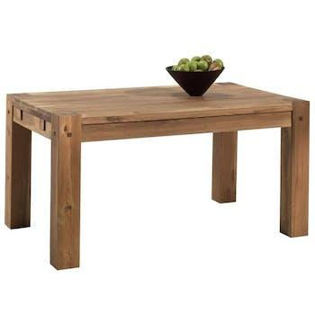 Table à manger extensible bois de chêne 150-250 FJORD