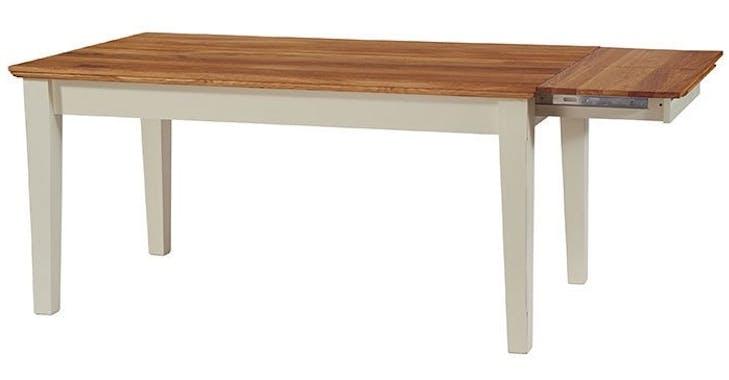 Table extensible crème Bord de mer 160/200cm Chêne huilé BRIEUC