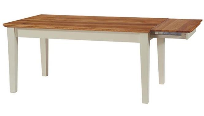 Table extensible crème Bord de mer 200/240cm Chêne huilé BRIEUC