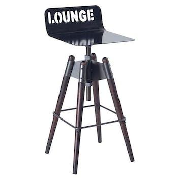 Chaise haute Moderne 73cm Fer et Tanoak OREGON