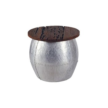Table basse ronde Moderne Teck naturel  50 cm MARRAKECH