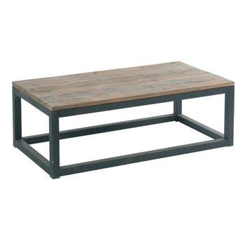 Table basse Industrielle 110cm Sapin recyclé SYNERGIE