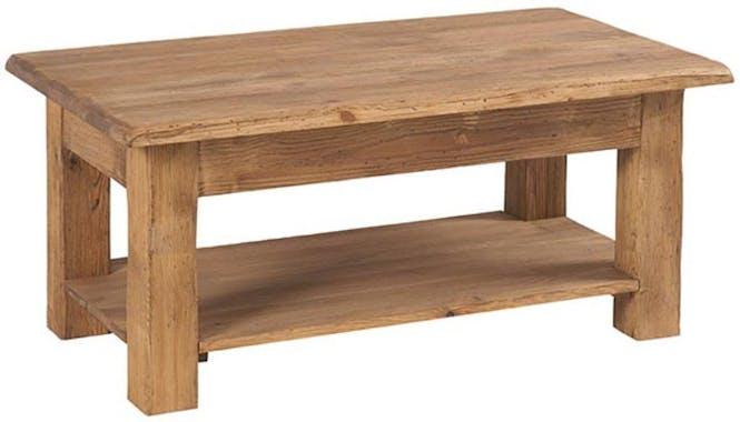 Table basse 100cm Pin brossé lasuré LAUSANE