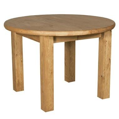 Table ronde pieds carrés 110/150cm Pin ciré HANNOVER