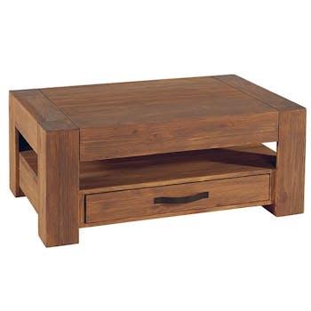 Table basse Moderne Pin lasuré 110 cm MICHIGAN