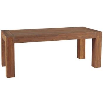 Table extensible Moderne 160/203cm Pin lasuré MICHIGAN