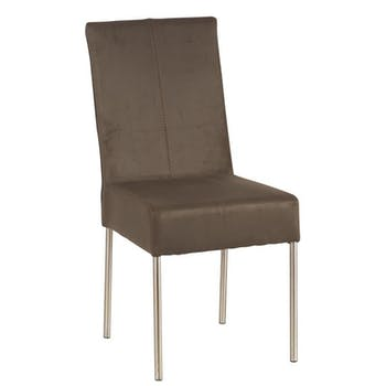 Chaise kaki Moderne 46x98cm Lin et Inox