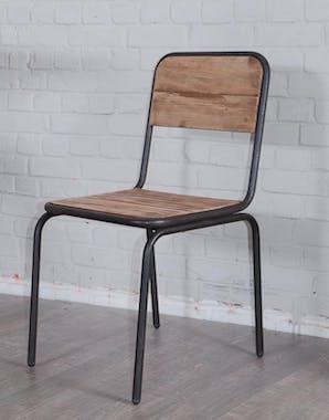 Chaise Industrielle 45x87cm sapin recyclé et fer