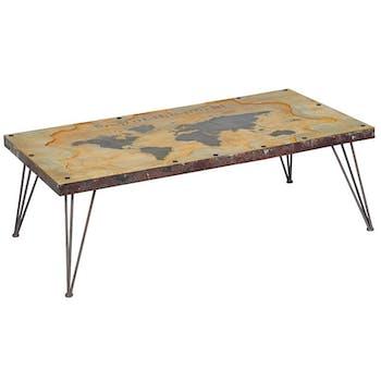 Table basse rectangulaire contemporaine 140 cm MAPPEMONDE