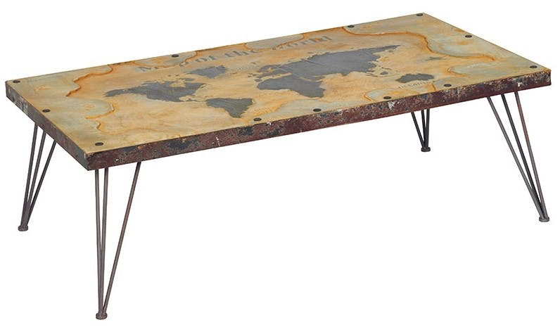 Table basse rectangulaire contemporaine 115 cm MAPPEMONDE