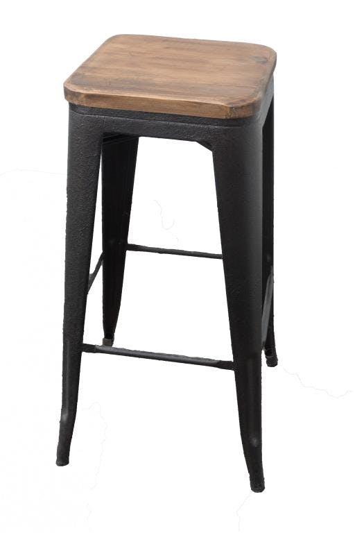 Tabouret De Bar Industriel LANDAISE. Table Basse Rectangulaire Bois De Pin  Massif LOUNDGE