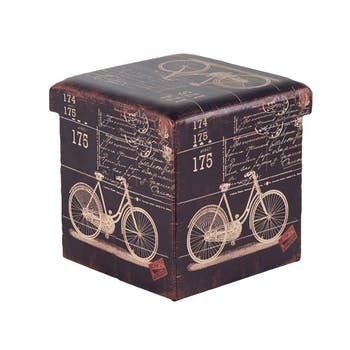 Pouf coffre Bike L36xP36xH36 ROTA