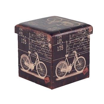 Pouf coffre Bike L36xP36xH36 ROTA