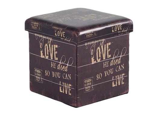 Pouf coffre Love L36xP36xH36 ROTA