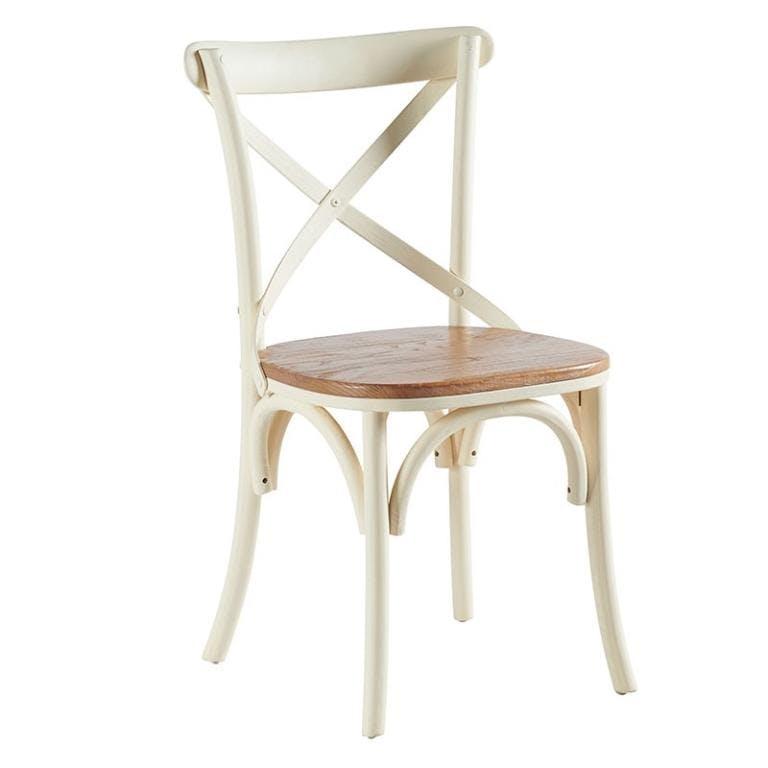 Chaise bistrot blanche crème BRIEUC