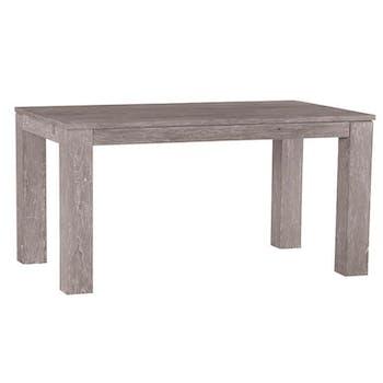 Table de repas moderne bois gris extensible 150x90x76 ATLAGO